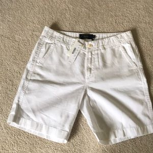 Jcrew white chino shorts size 0